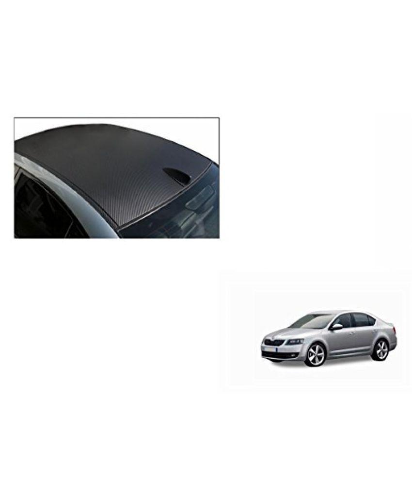 Speedwav Car Roof Wrap Sheet Carbon Design Matt Black-Skoda Octavia Type 2 (2013-2015)