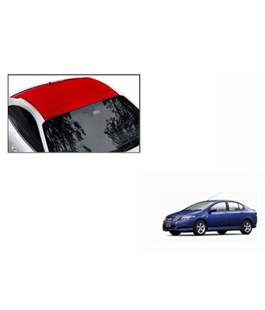 Speedwav Car Roof Wrap Sheet Matt Red-Honda City Type 4 (2009-2014)