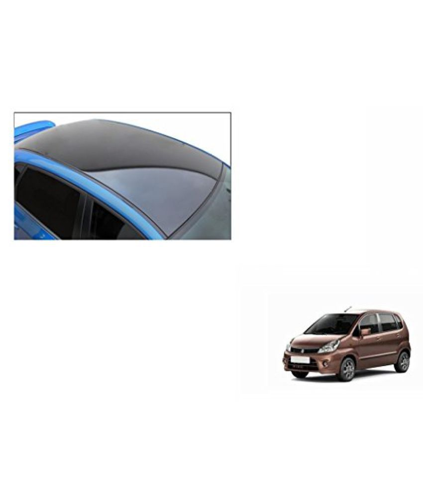 Speedwav Car Roof Wrap Sheet Glossy Black-Maruti Zen Estilo Type 1 (2006-2013)