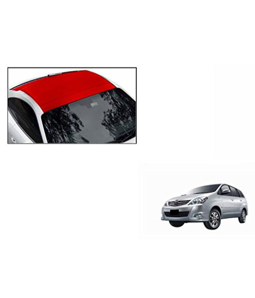 Speedwav Car Roof Wrap Sheet Matt Red-Toyota Innova Type 3 (2012-2013)