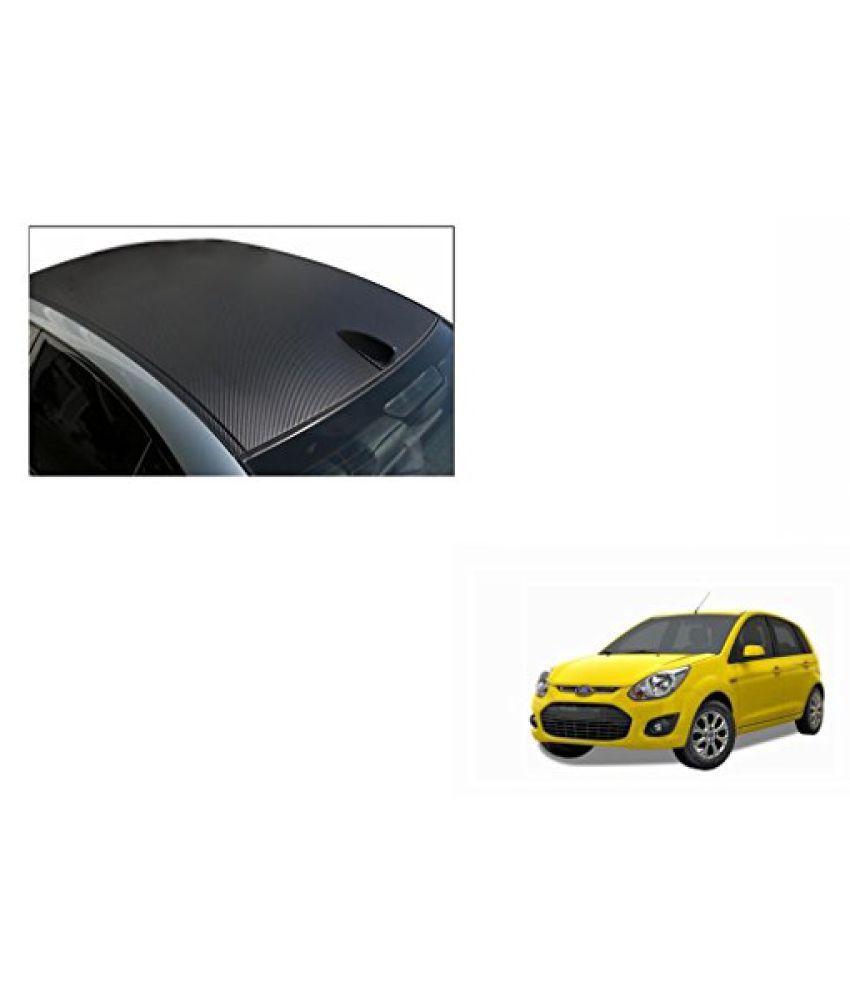 Speedwav Car Roof Wrap Sheet Carbon Design Matt Black-Ford Figo Type 2 (2014-2015)