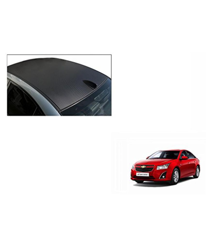 Speedwav Car Roof Wrap Sheet Carbon Design Matt Black-Chevrolet Cruze Type 2 (2014-2015)
