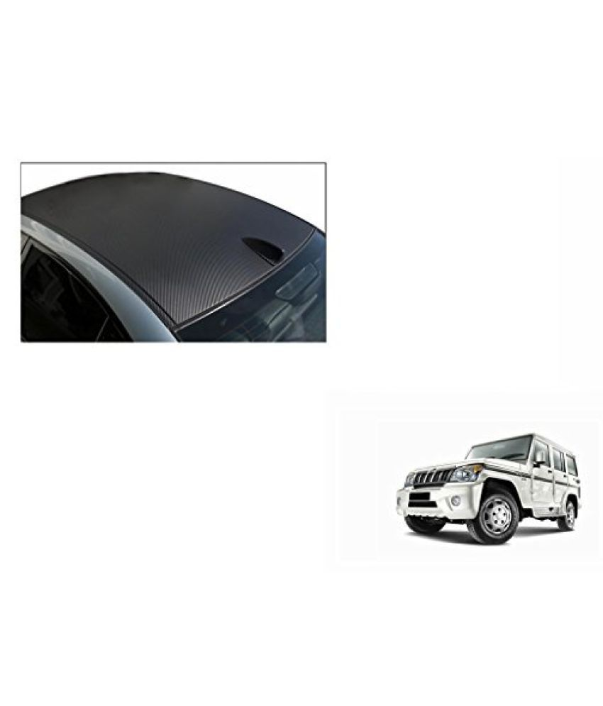 Speedwav Car Roof Wrap Sheet Carbon Design Matt Black-Mahindra Bolero Type 3 (2009-2011)