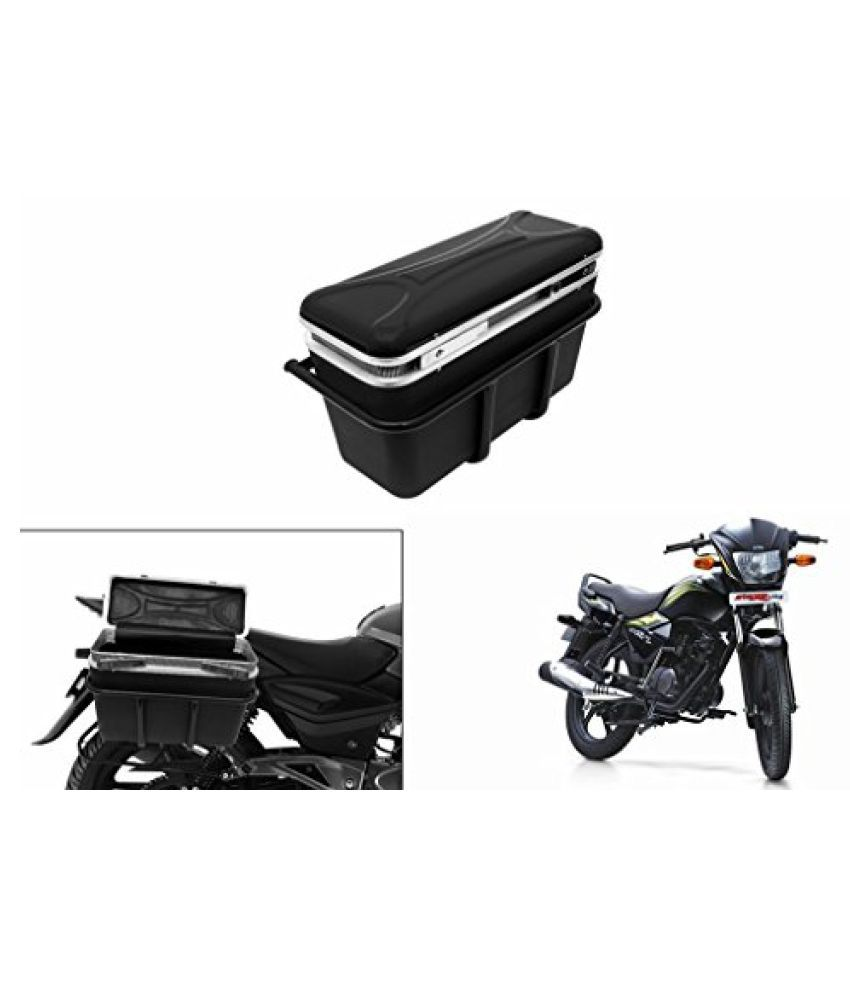 Speedwav DLB-1 Bike Double Lock Luggage Box Black-TVS Star City