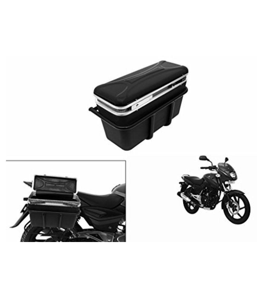 Speedwav DLB-1 Bike Double Lock Luggage Box Black-Bajaj Pulsar 150 DTS-i Type 3