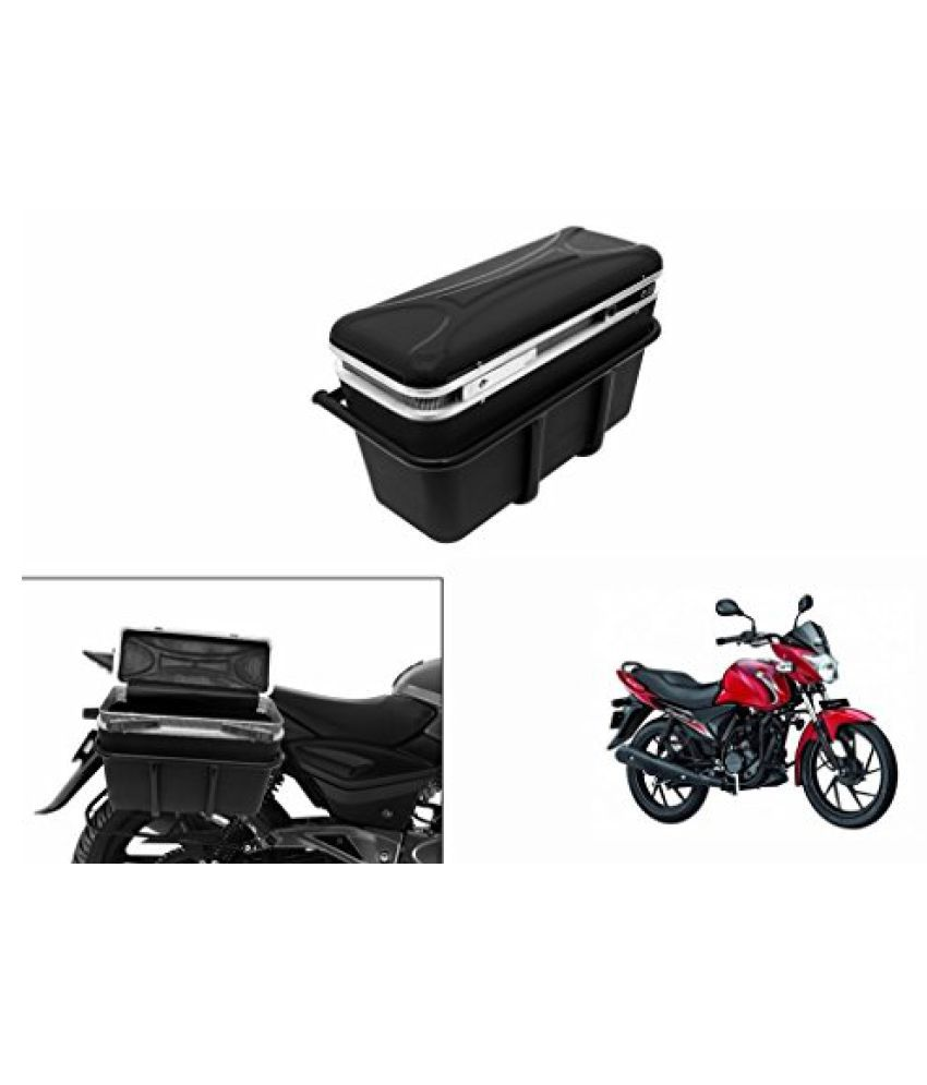 Speedwav DLB-1 Bike Double Lock Luggage Box Black-Suzuki Sling Shot Plus