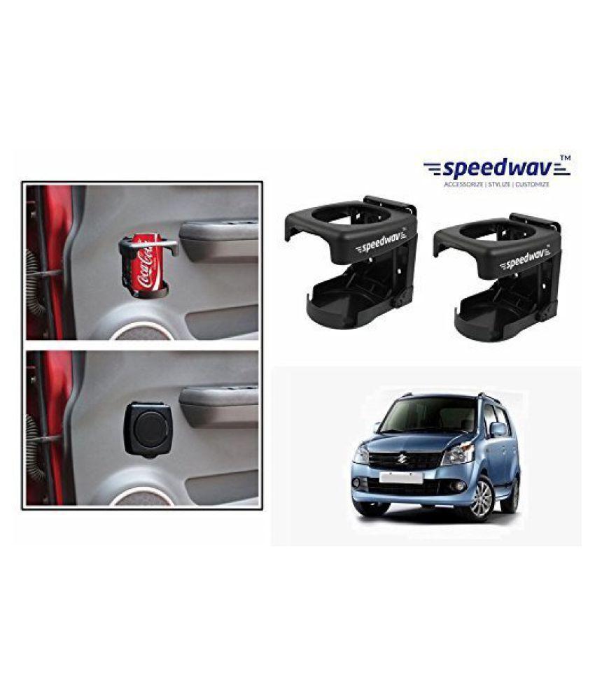 Speedwav Foldable Car Drink/Bottle Holder Set Of 2 BLACK-Maruti WagonR K Series