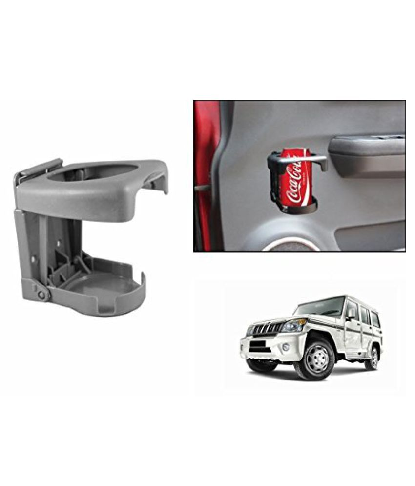 Speedwav Foldable Car Drink Holder Grey-Mahindra Bolero Type 3 (2009-2011)