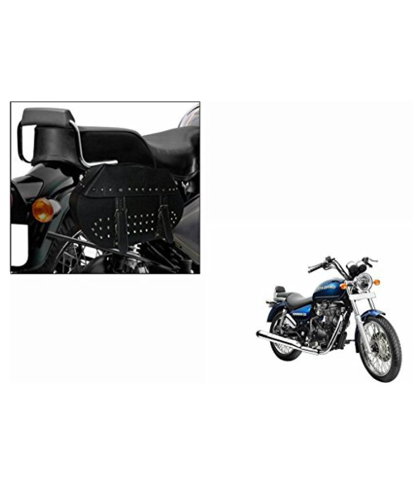 Speedwav HA01 Bike Harley Style Big Saddle Bag Black-Royal Enfield Thunderbird 500 Type 2