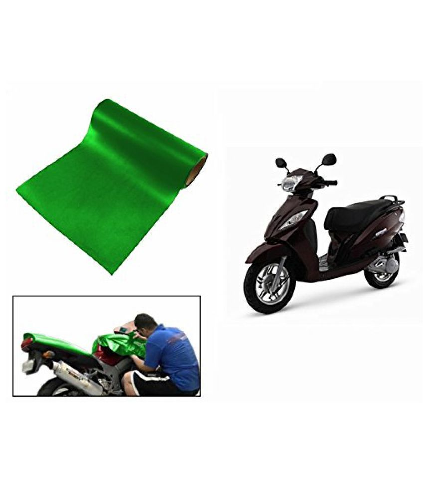 Speedwav Matt Green 3 Meter Scooter Wrap Sheet-TVS Wego