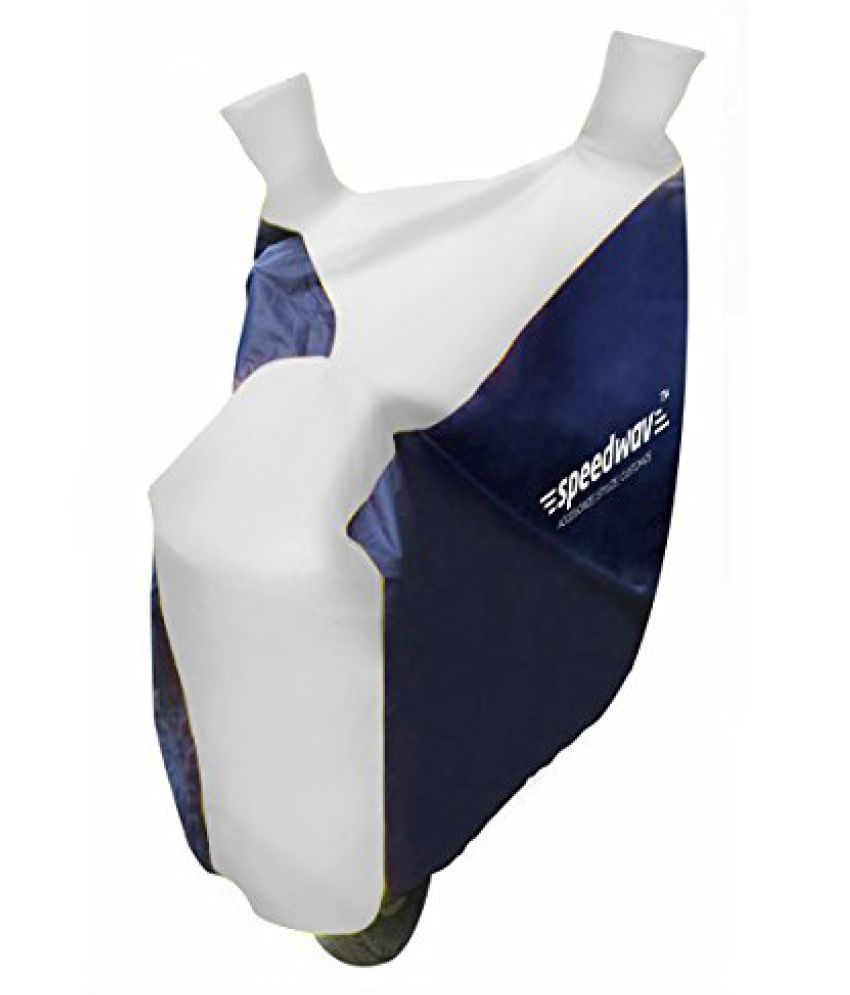 Speedwav Sporty Bike Body Cover Blue White-Hero CBZ Type 1