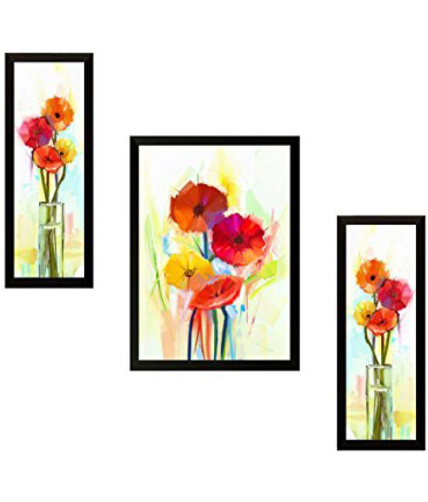 SAF 'Flower Floral' Painting (Synthetic, 35 cm x 3 cm x 45 cm)