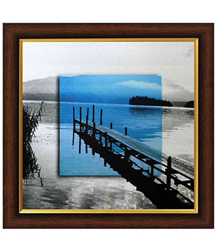 SAF Framed Painting (Acrylic, 35 cm x 3 cm x 35 cm, Set of 3, Textured Effect, SANF4034)