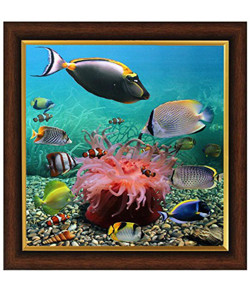 SAF Framed Painting (Acrylic, 35 cm x 3 cm x 35 cm, Set of 3, Textured Effect, SANF4045)