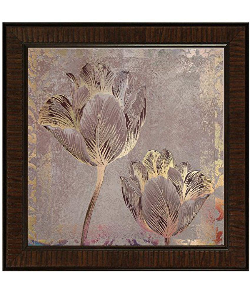 SAF Multi Effect Print Oil Painting (SANFO433, 30 cm x 3 cm x 30 cm)