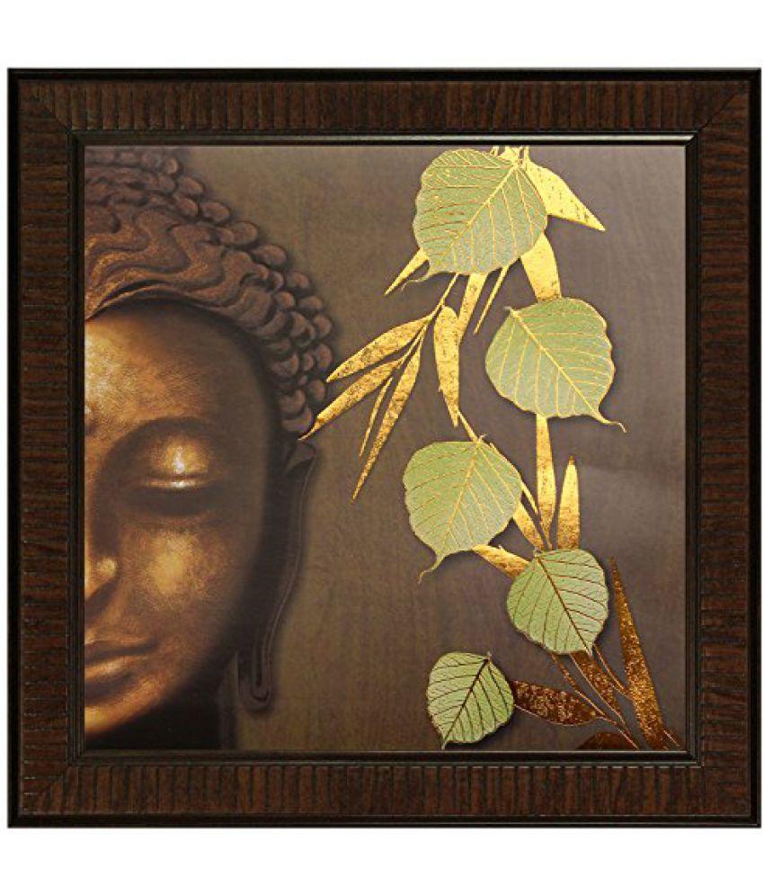 SAF Multi Effect Print Oil Painting (SANFO425, 30 cm x 3 cm x 30 cm)