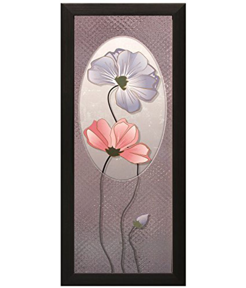 SAF Special Effect Textured Floral with UV Print Painting (SANFO161, 15 cm x 3 cm x 38 cm)