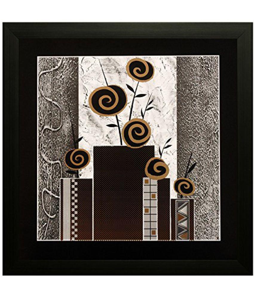 SAF Special Effect Textured Floral Painting (SANFO122, 30 cm x 3 cm x 30 cm)