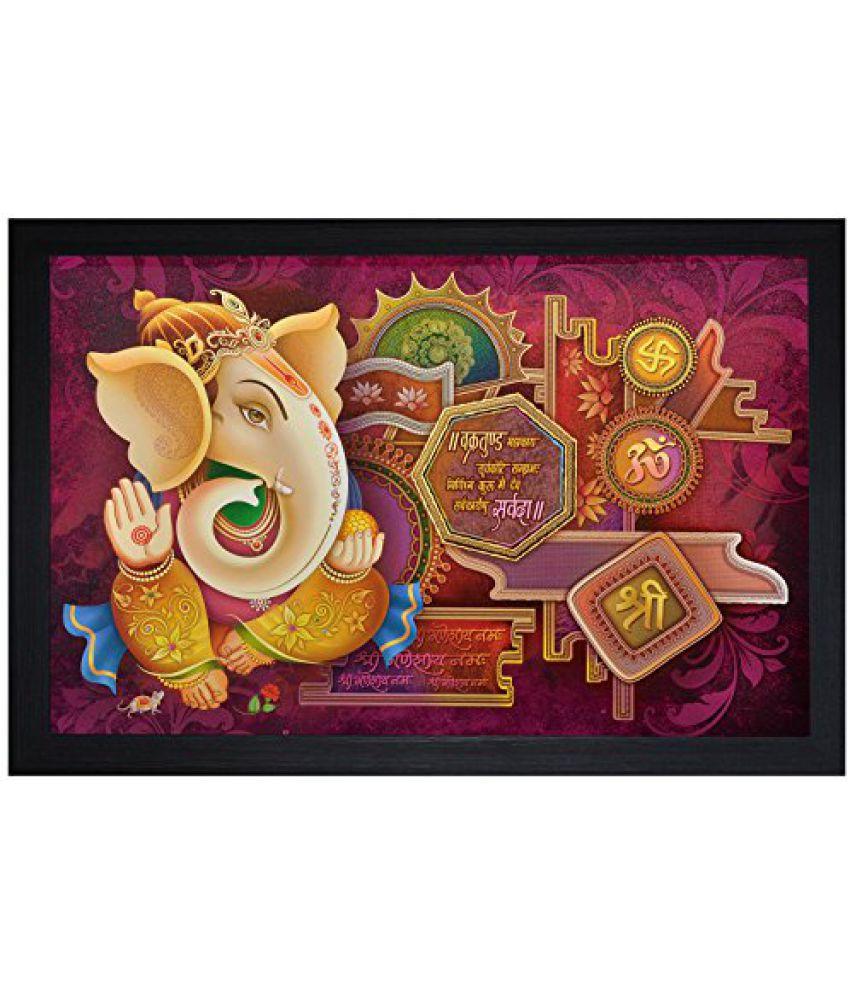 SAF Special Effect Textured Ganesha Painting (SANFO22, 30 cm x 3 cm x 45 cm)