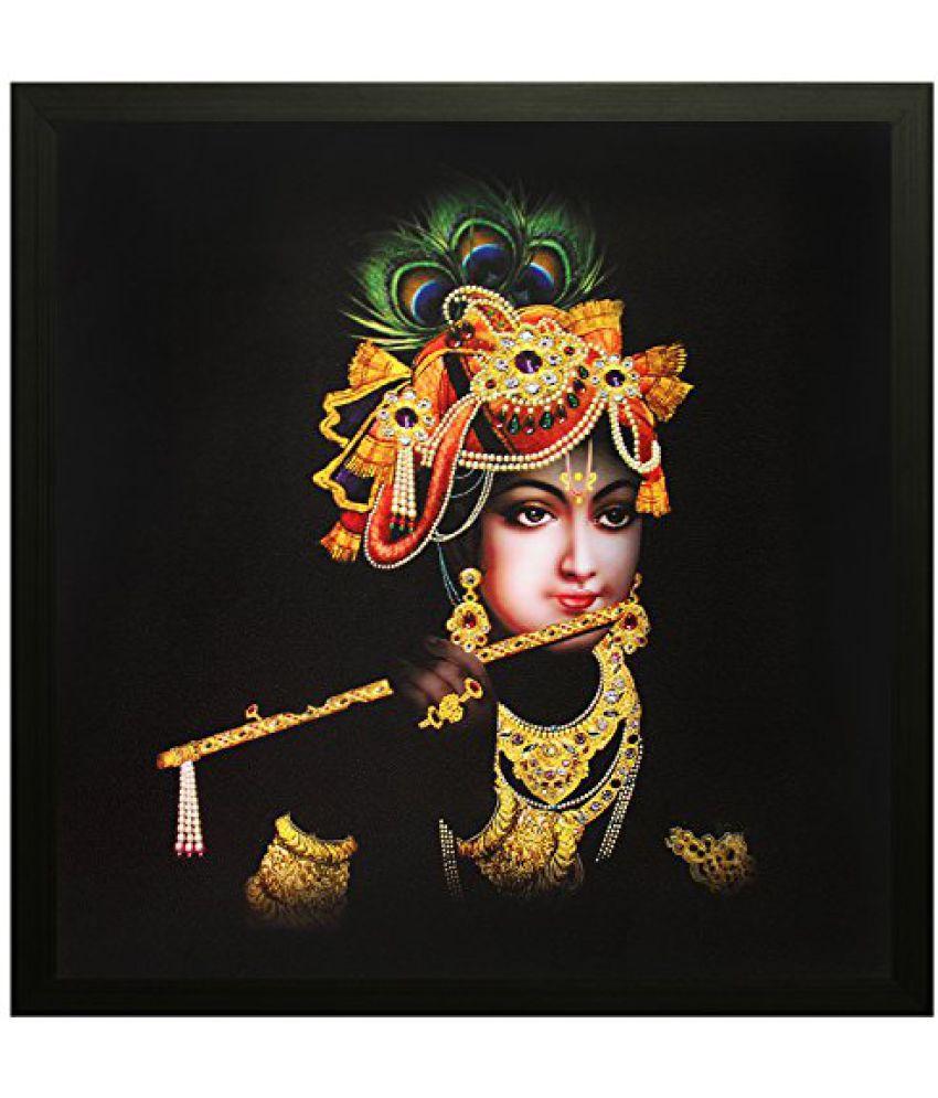 SAF Special Effect Textured Krishna Ji Painting (SANFO91, 30 cm x 3 cm x 30 cm)