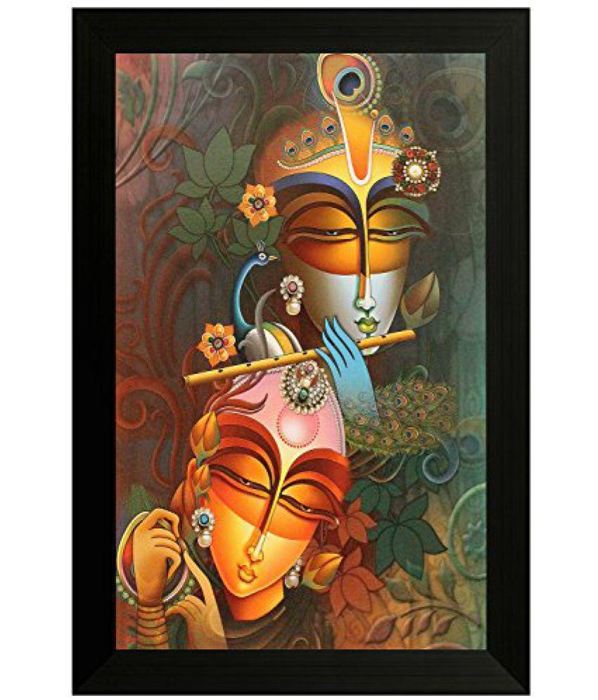 SAF Special Effect Textured Radhey Krishna Ji Painting (SANFO129, 30 cm x 3 cm x 45 cm)