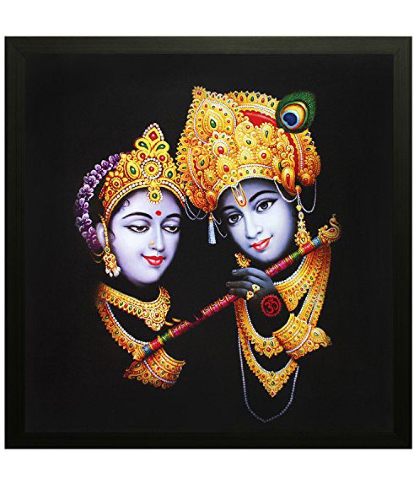 SAF Special Effect Textured Radhey Krishna Ji Painting (SANFO93, 30 cm x 3 cm x 30 cm)