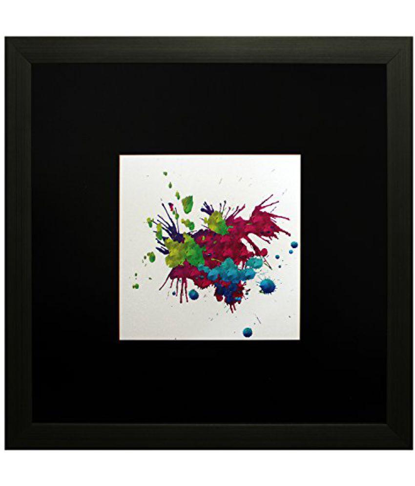 SAF Textured Print with UV Framed Reprint Painting (SANFO588, 25 cm x 3 cm x 25 cm)