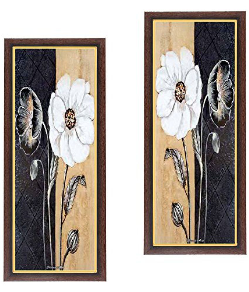 Wens Beauty Think Remember MDF Wall Art (28 cm x 13.5 cm x 1 cm, Set of 2)
