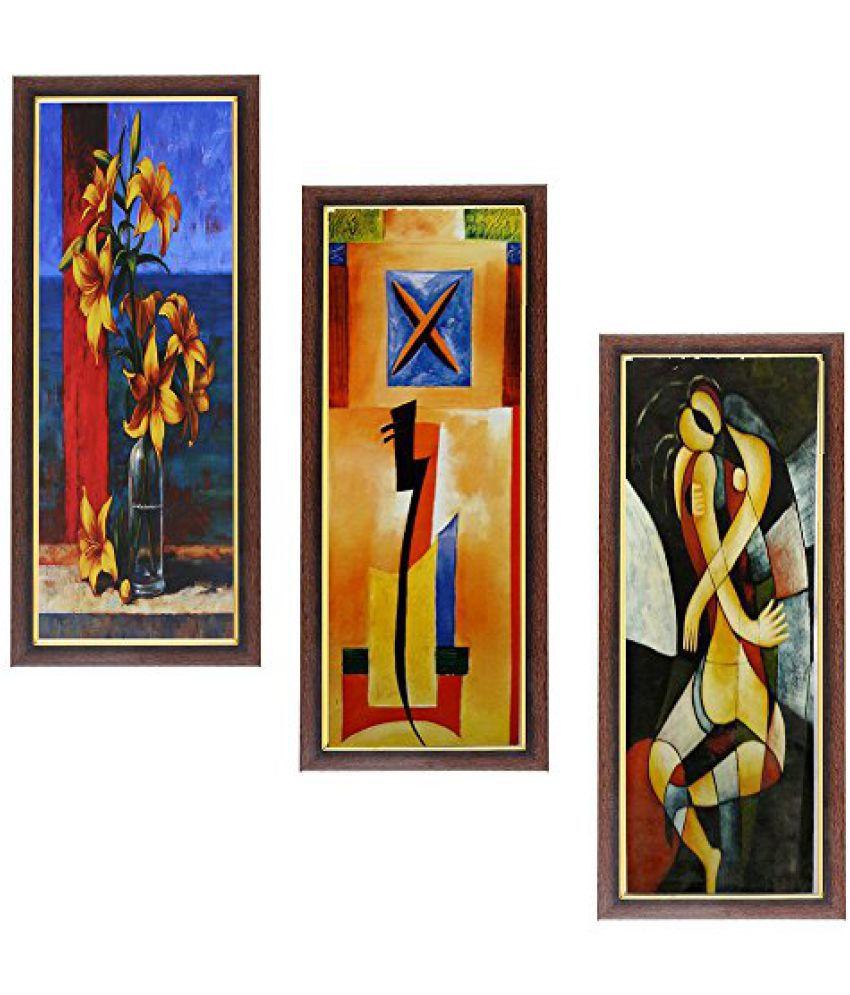 Wens MDF Wall Art (43 cm x 18 cm x 1 cm, Set of 3, WSPC-32)