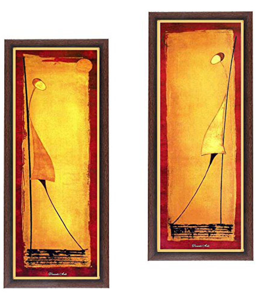 Wens Modern MDF Wall Art (28 cm x 13.5 cm x 1 cm, Set of 2, WSPC-6046)