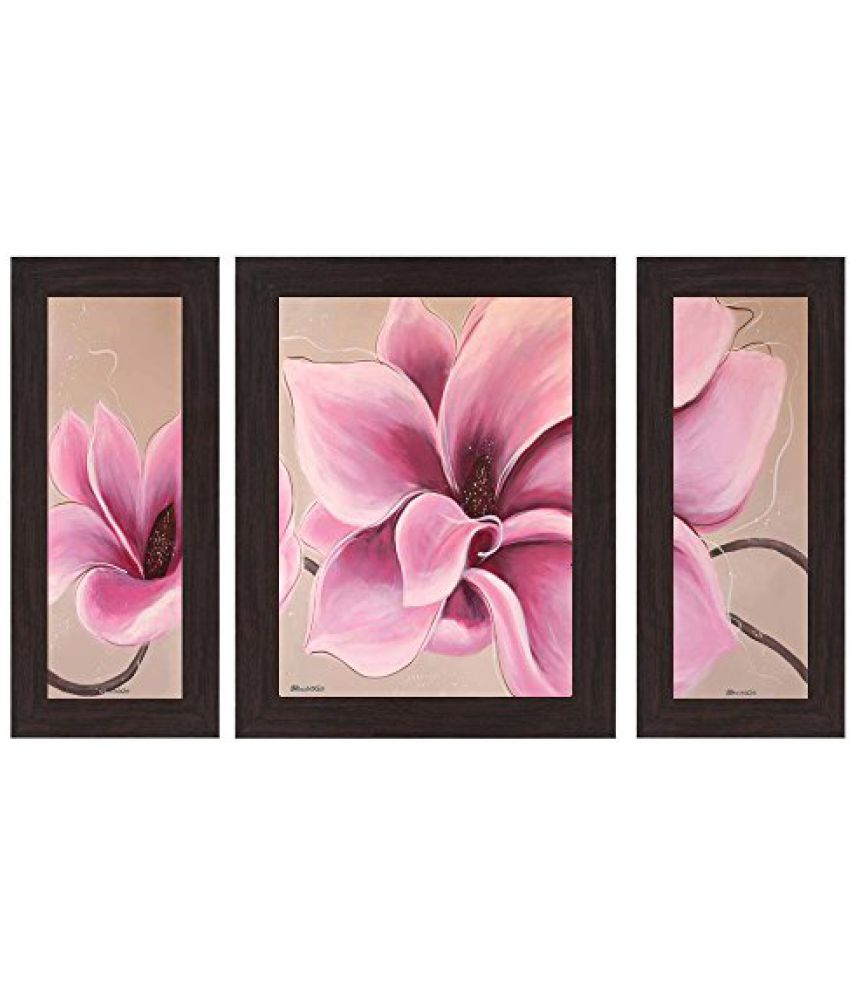 Wens 'Pink Nature Beauty' Wall Art (MDF, 29.5 cm x 24.5 cm, WSP-4322)