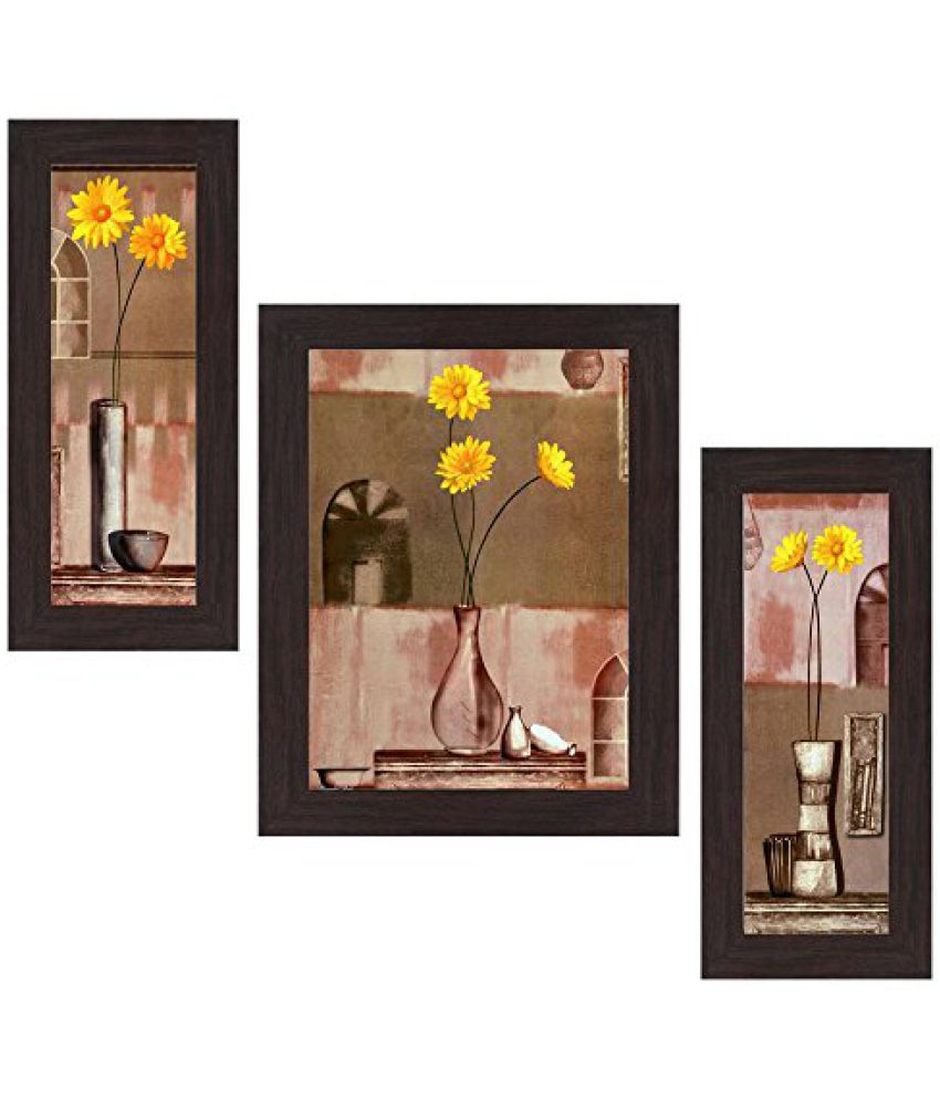 Wens Pleasant Scenario MDF Wall Art (14.5 cm x 29 cm x 1 cm, Set of 3)
