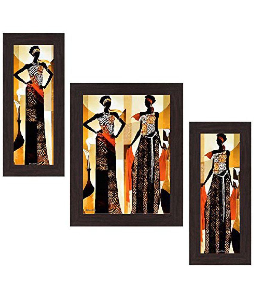 Wens Still Life MDF Wall Art (14.5 cm x 29 cm x 1 cm, Set of 3, WSP-4164)