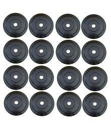 Leeway 60kg Rubber Weight Plates (10kg X 2pcs, 5kg X 4pcs, 3kg X 4pcs, 2kg X 2pcs, 1kg X 4pcs)