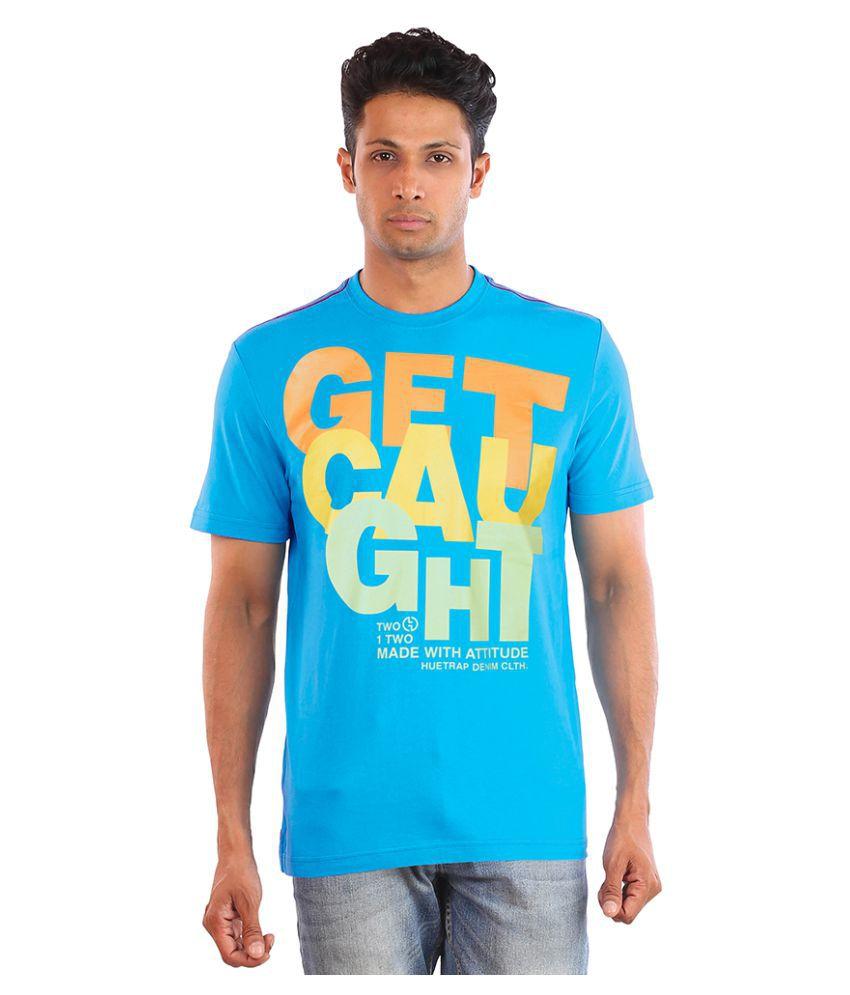 Huetrap Turquoise Round T-Shirt