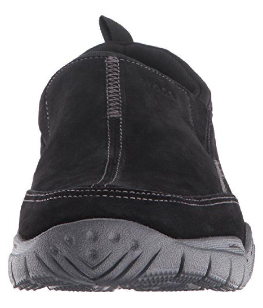 d4551e442cd87 Crocs Swiftwater Leather Moc Men Shoe in Black - Buy Crocs ...