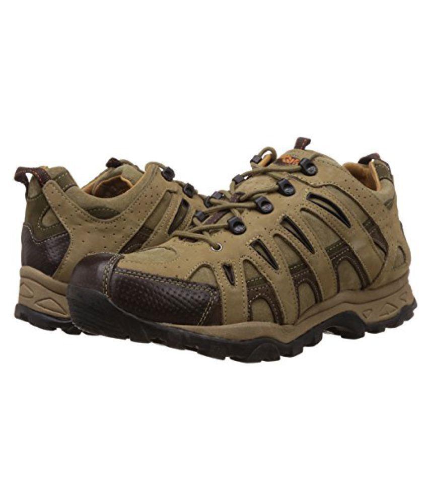 Woodland Men's Khaki Leather Sneakers - 7 UK/India (41 EU) gxN0fJRnh5