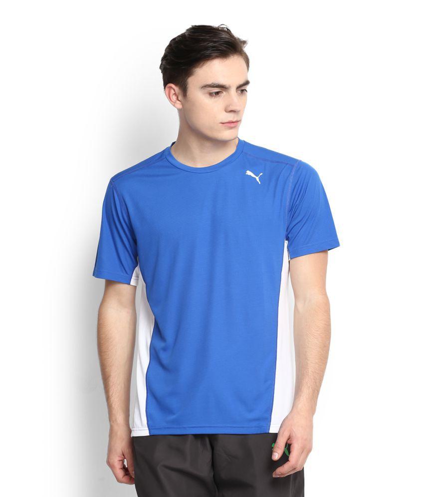 Puma Blue Polyester T Shirt