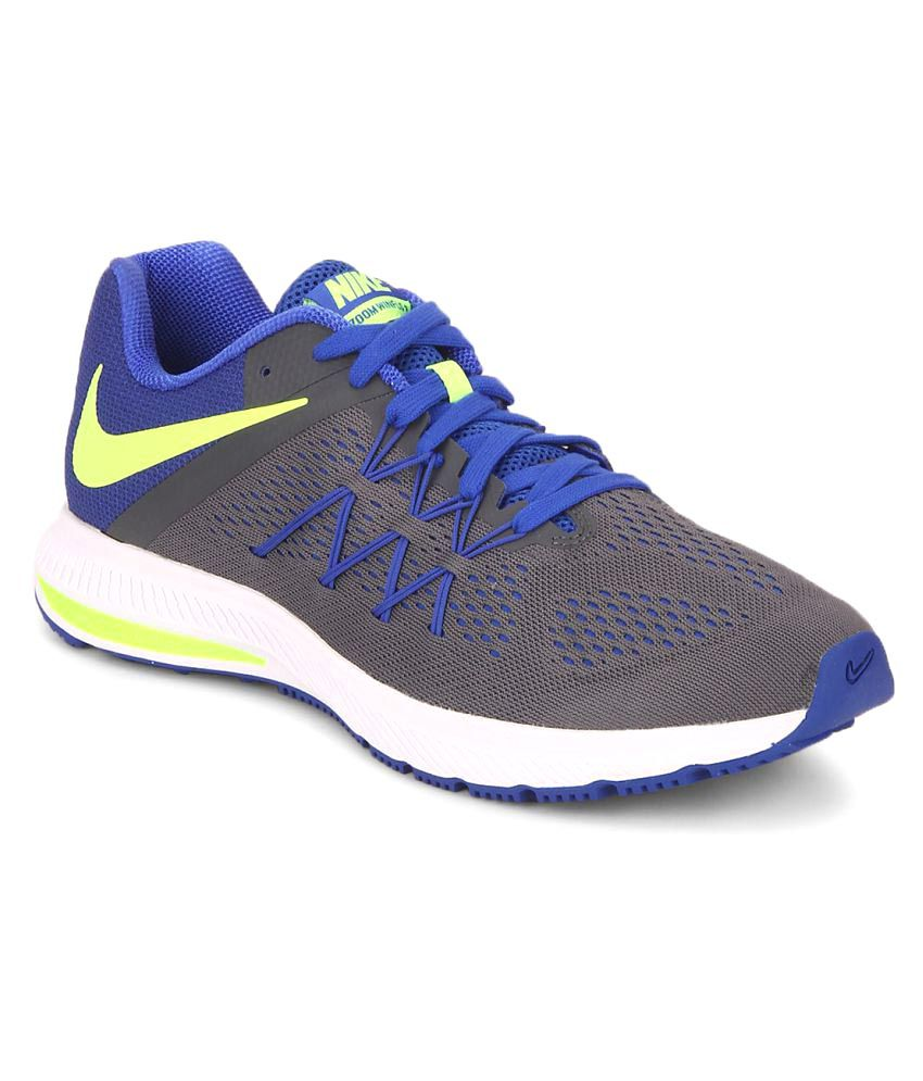 outlet store 03aa5 db71d Nike Zoom Winflo 3 Grey Running Shoes