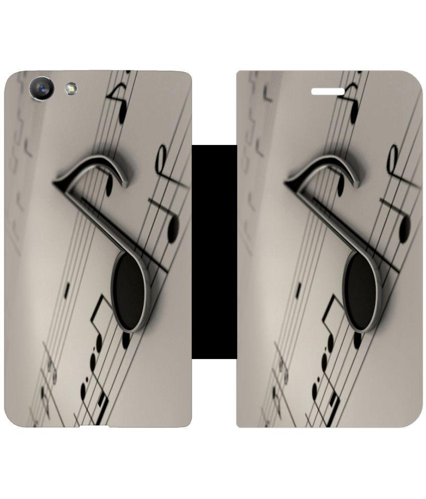 Oppo F1s Flip Cover by Skintice - Grey