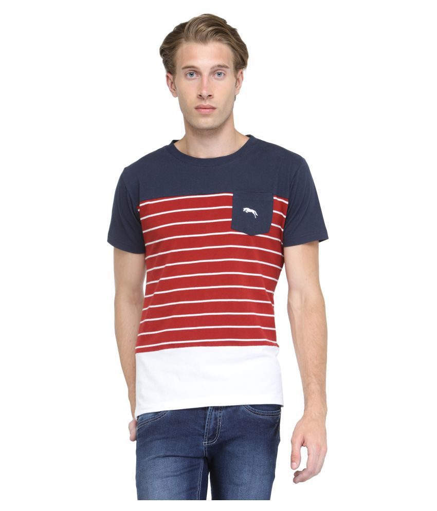 JUMPUSA Red Round T-Shirt