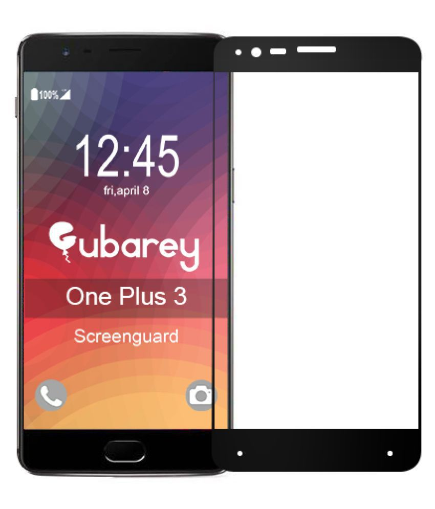 ONE PLUS 3 Color Glass Screen Guard By GUBAREY