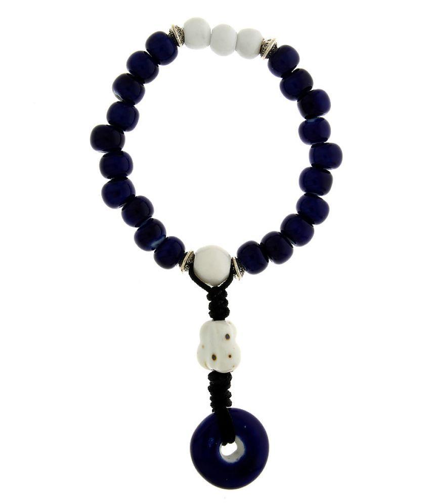 Anuradha Art Navy Blue Colour Classy Designer Trendy Crystal/Nature Beads Bracelet For Women/Girls