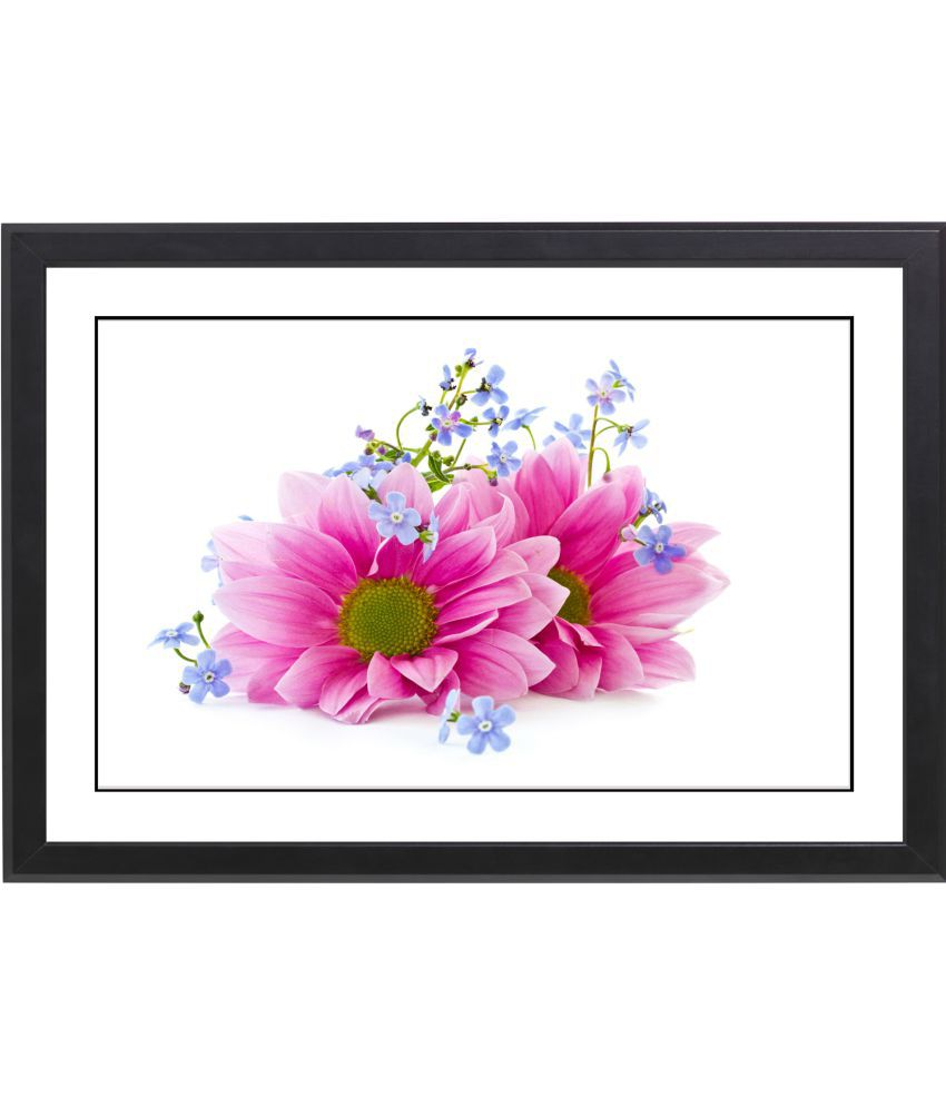 CRAFTSFEST BEUTIFULL FLOWER MDF Painting With Frame- (30cmX20cmX1.5cm)