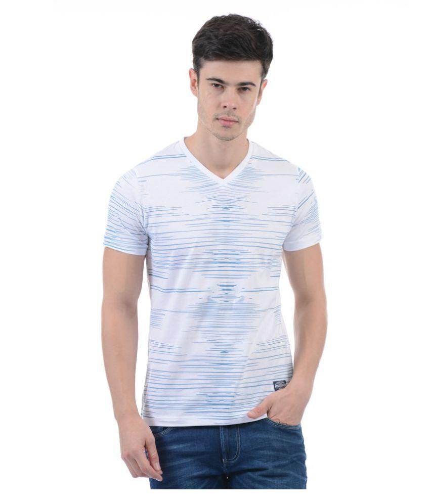 Monte Carlo Blue V-Neck T-Shirt