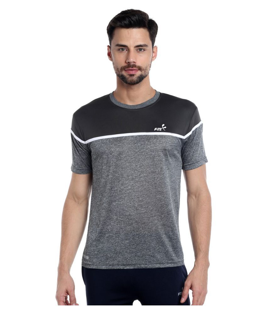 Fitz Grey Polyester T-Shirt Single Pack