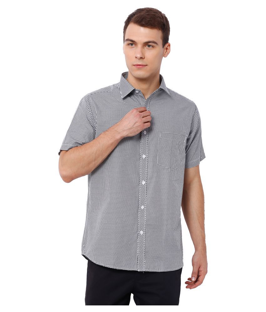 Deezeno Black Casual Regular Fit Shirt