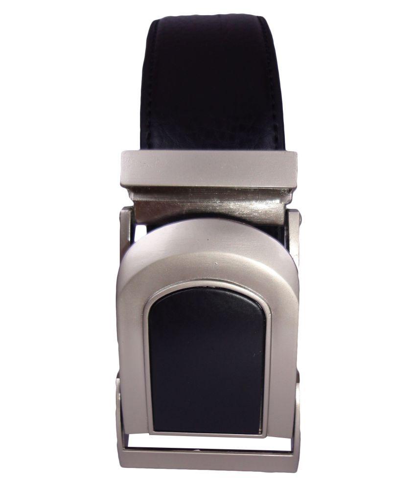 Revo Black Faux Leather Casual Belts