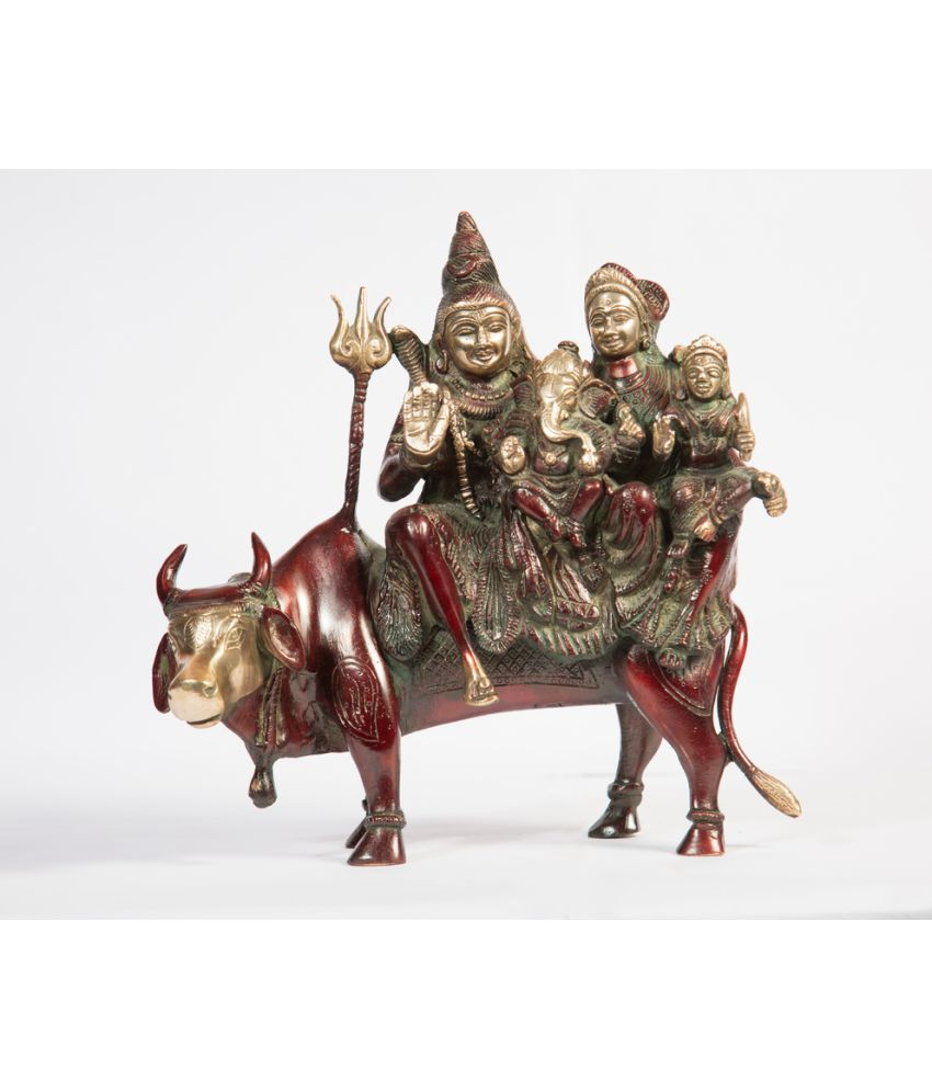 Arihant Craft Shiv Family Brass Idol