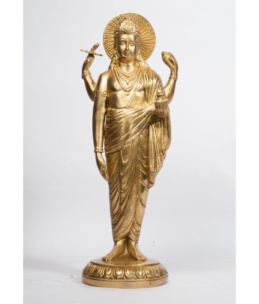 Arihant Craft Vishnu Brass Idol